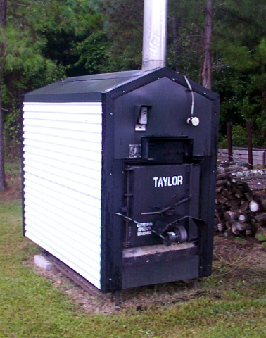 outdoor wood stove boiler
